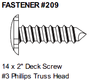 Fasteners 209