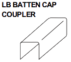 LB BATTEN CAP COUPLER