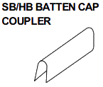 SB-HB BATTEN CAP COUPLER