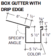BOX GUTTER WITH DRIP EDGE
