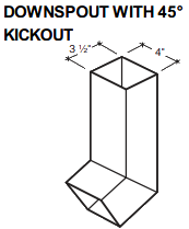 DOWNSPOUT WITH 45° KICKOUT