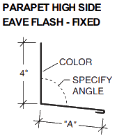 PARAPET HIGH SIDE EAVE FLASH-FIXED