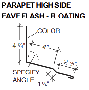 PARAPET HIGH SIDE EAVE FLASH-FLOATING
