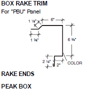 Box Rake Trim for PBU Panel