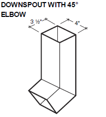 Downspout with 45 Elbow