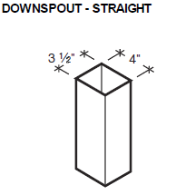Downspout - Straight