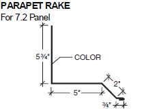 Parapet Rake for 7.2 Panel