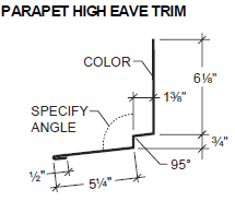 Parapet High Eave Trim