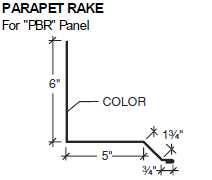 Parapet Rake for PBR Panel