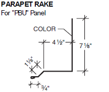 Parapet Rake for PBU Panel