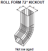 Roll Form 72 Kickout