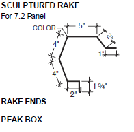 Sculptured Rake for 7.2 Panel