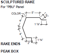 Sculptured Rake for PBU Panel